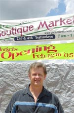 Roger Smith on the site of the new Yarraman Boutique Markets
